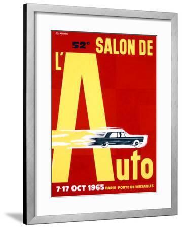 52nd Salon de l'Auto, 1965