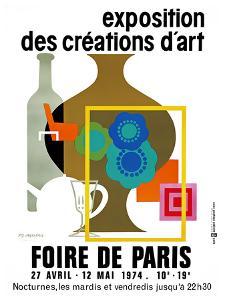 Fair of Paris Exhibition Art, 1974 by PIERRE FIX-MASSEAU