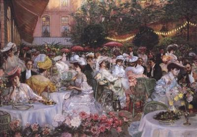 Georges Jeanniot - Le Diner A' L'Hotel Ritz by Pierre-Georges Jeanniot
