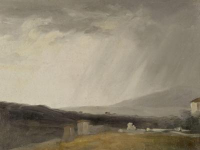 Ciel à la Villa Borghèse : temps de pluie by Pierre Henri de Valenciennes