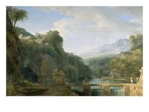 Landscape of Ancient Greece, 1786 by Pierre Henri de Valenciennes