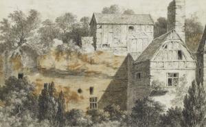 Vieilles maisons parmi des arbres by Pierre Henri de Valenciennes