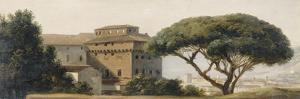 Vue du couvent de l'Ara Coeli : le pin parasol by Pierre Henri de Valenciennes