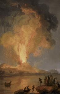 Eruption du V�ve by Pierre Jacques Volaire