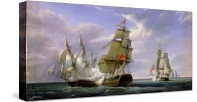 """Combat Between the French Frigate """"La Canonniere"""" and the English Vessel """"The Tremendous"""""""