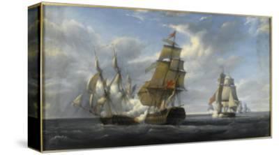 Combat de frégate française Canonnière contre vaisseau anglais Tremendous, 21 avril 1806