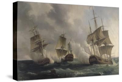 Combat naval entre les frégates françaises la Nymphe et l'Amphitrite commandées par le vicomte de