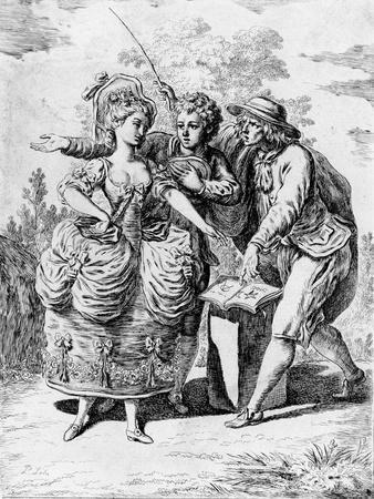 Illustration for 'Le Devin Du Village' by Jean-Jacques Rousseau (1712-78) 1779