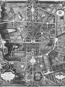 General Plan of the Town and Chateau of Versailles, with Its Gardens, Forests and Fountains by Pierre Lepautre
