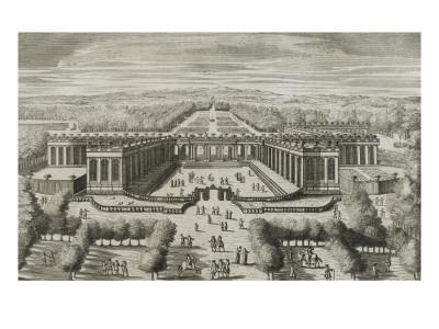 """Recueil des """"Plans, Profils et Elévations du Château de Versailles..."""" : planche 47 : vue"""