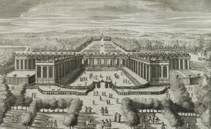 """Recueil des """"Plans, Profils et Elévations du Château de Versailles..."""" : planche 47 : vue by Pierre Lepautre"""