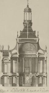 """Recueil des """"Plans, Profils et Elévations du Château de Versailles..."""" : planche 6 : coupe by Pierre Lepautre"""