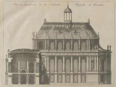"""Recueil des """"Plans, Profils et Elévations du Château de Versailles..."""" : planche 8 : vue de"""