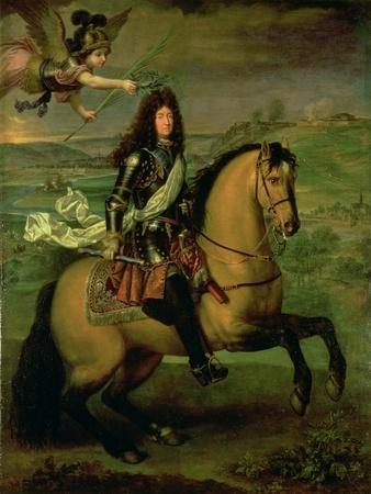 Equestrian Portrait of Louis XIV (1638-1715) Crowned by Victory, circa 1692