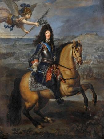 Equestrian Portrait of Louis XIV at the Siege of Namur by Pierre Mignard