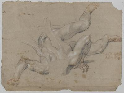 """Etude de démon d'après le """"saint Michel terrassant le dragon"""" de Raphaël by Pierre Mignard"""