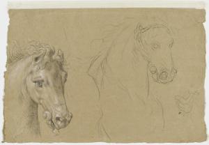 Etudes pour la tête d'un cheval by Pierre Mignard