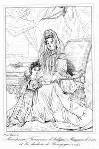 Françoise D'Aubigné, and the Duchess of Bourgogne by Pierre Mignard