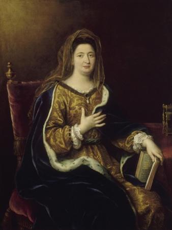 Françoise d'Aubigné, marquise de Maintenon, représentée en Sainte Françoise Romaine vers 1694 by Pierre Mignard