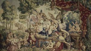 La Galerie de Saint-Cloud. Le printemps ou le mariage de Flore et de Zéphyr by Pierre Mignard