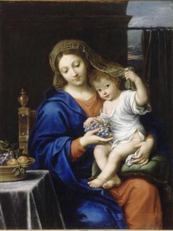 La Vierge à la grappe by Pierre Mignard
