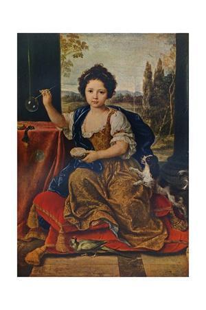 Louise Marie Anne de Bourbon, (1674-1681), illegitimate daughter of Louis XIV, c1680, (1911)
