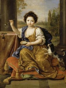 """Louise-Marie de Bourbon, """"Mademoiselle de Tours"""" by Pierre Mignard"""