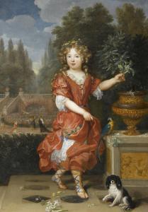 Mademoiselle de Blois by Pierre Mignard