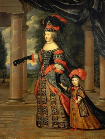 Maria Theresa of Austria, Queen of France, with the Dauphin by Pierre Mignard