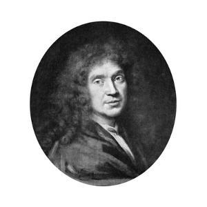 Moliere, French Theatre Writer, Director and Actor, 17th Century by Pierre Mignard