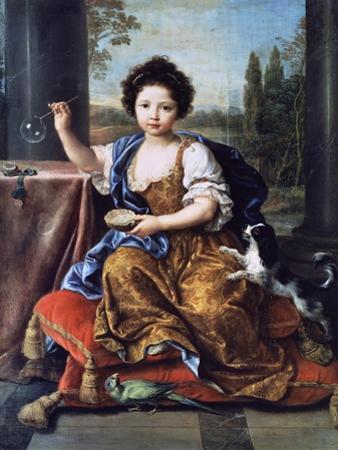Portrait of Louise Marie Anne De Bourbon or Mademoiselle De Tours (1674-1681) by Pierre Mignard