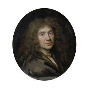 Portrait of the Author Moliére (1622-167), Ca 1658 by Pierre Mignard