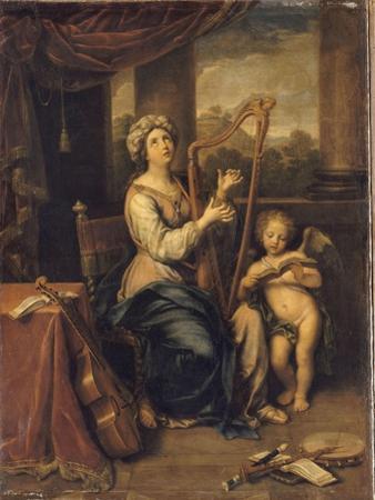 Sainte Cécile chantant les louanges du Seigneur by Pierre Mignard