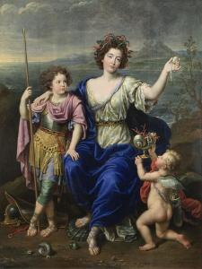 The Marquise De Seignelay and Two of Her Sons, 1691 by Pierre Mignard