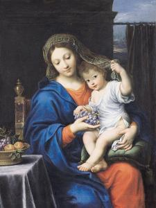 The Virgin of the Grapes, 1640-50 by Pierre Mignard