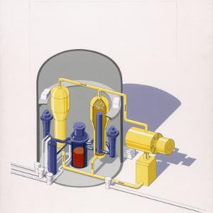 A Painting of an Improved Reactor Design by Pierre Mion by Pierre Mion