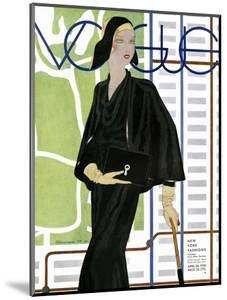 Vogue Cover - April 1930 by Pierre Mourgue