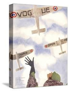 Vogue Cover - March 1932 by Pierre Mourgue