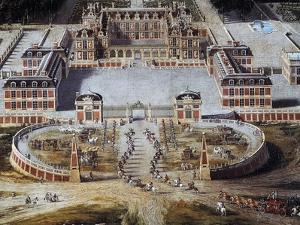 View of Castle and Gardens of Versailles from Avenue De Paris, 1668 by Pierre Patel