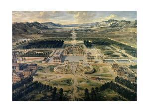 View of Castle and Gardens of Versailles, from Avenue De Paris in 1668 by Pierre Patel