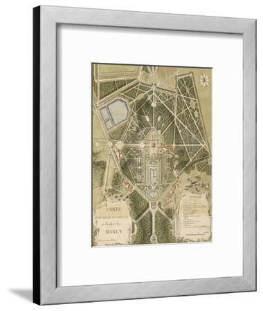 """Recueil des """"Plans des châteaux et parcs de Versailles, Trianon et Marly vers 1732"""" ; Relié aux"""