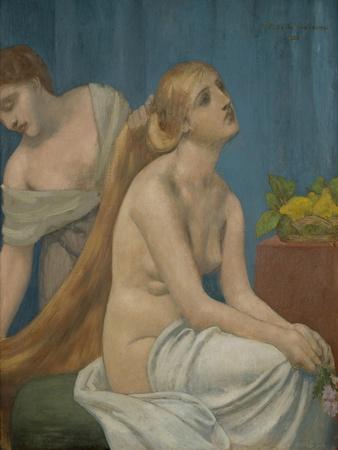 Femme a sa toilette-Woman at her toilette,1883. Canvas,75 x 63 cm R. F.3962.