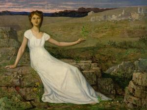 L'espoir (Hope). Oil on canvas (1872) 102.5 x 129.5 cm. by PIERRE PUVIS DE CHAVANNES