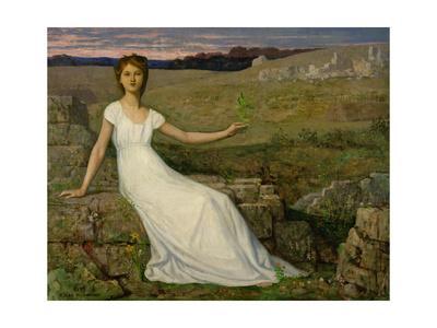 L'espoir (Hope). Oil on canvas (1872) 102.5 x 129.5 cm.