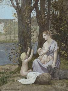 La jeune mère, dit aussi Maternité, ou la Charité by Pierre Puvis de Chavannes