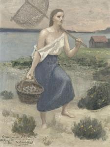 La pêcheuse by Pierre Puvis de Chavannes