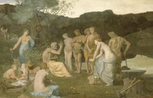Le repos by Pierre Puvis de Chavannes