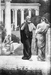 Plato Conversing with a Student at the Academy by Pierre Puvis de Chavannes