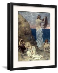Puvis De Chavannes: Girls by Pierre Puvis de Chavannes