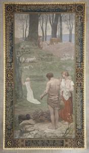 Sainte Geneviève enfant en prière by Pierre Puvis de Chavannes